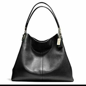 Coach Madison Phoebe Leather Shoulder Bag!